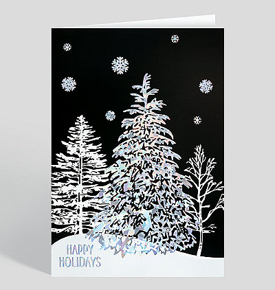 Holiday Night Sparkle Card