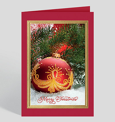 Merry christmas cards for your christmas holiday greetings hand painted treasure christmas card m4hsunfo