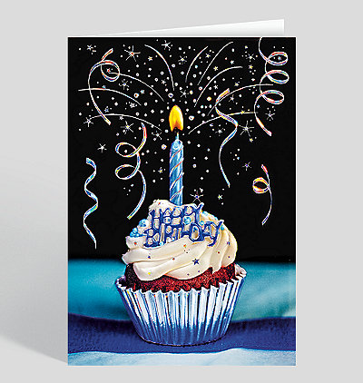 Glittery Confection Birthday Card