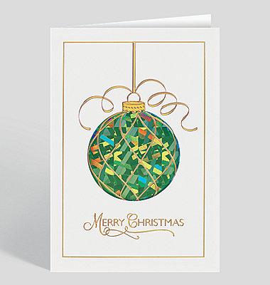 Flourish Ornament Christmas Card
