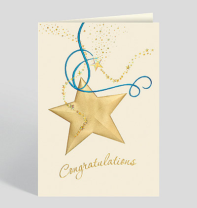 Golden Congratulations Card