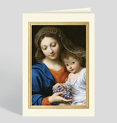 The Virgin of the Grapes (La Vierge de la Grappe) Card