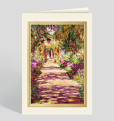 Garden Path Painting Greeting Card