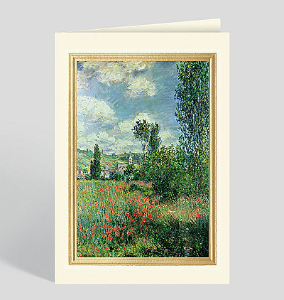 Path in Ile Saint Martin, Vetheuil Greeting Card