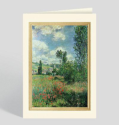 Path in Ile Saint Martin, Vetheuil Greeting Card