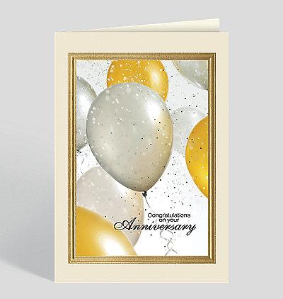 Glittering Balloons Anniversary Card