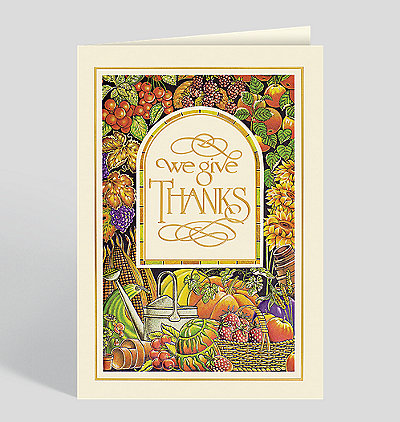 We Give Thanks Thanksgiving Cards