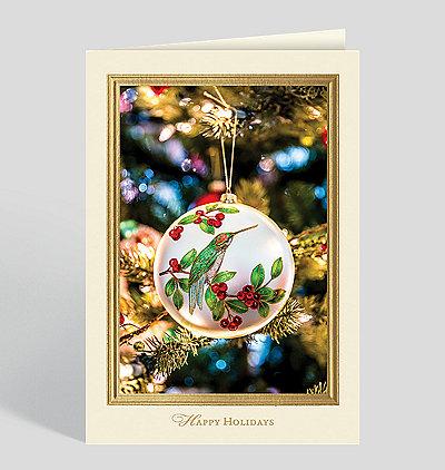 Hummingbird Ornament Holiday Card
