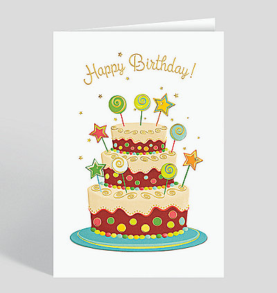 Lollipops and Layers Birthday Card