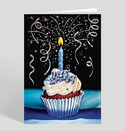 Glittery Confection Birthday Card