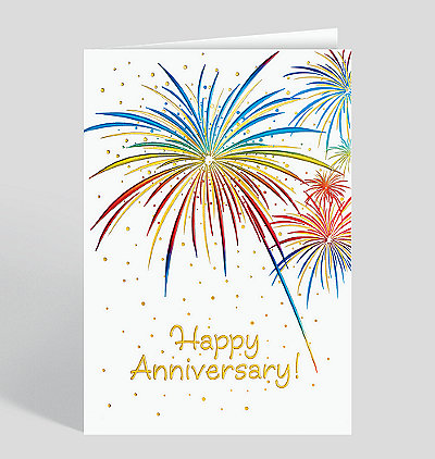 Anniversary Fireworks Card