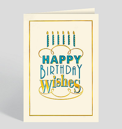 Birthday Cake Type Card