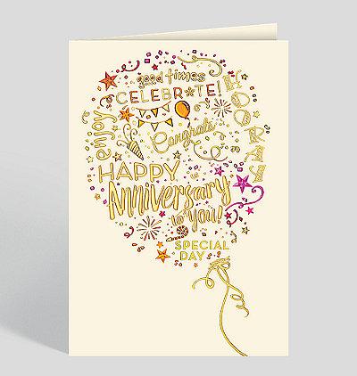 Anniversary Congrats Balloon Card