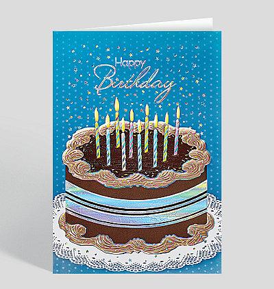 Mocha Frosting Birthday Card