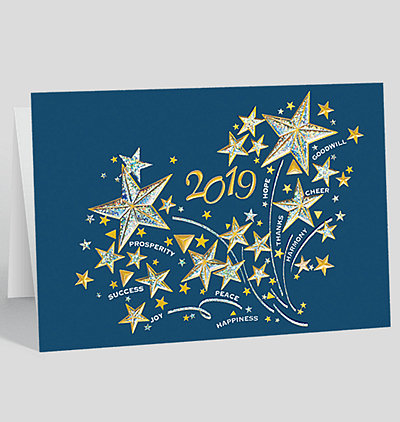 Holiday calendar cards the gallery collection 2019 stars and good wishes calendar card reheart Choice Image