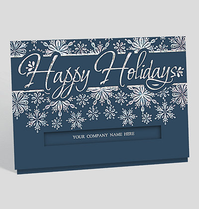 Non denominational holiday cards the gallerycollection glistening snowflakes christmas card m4hsunfo