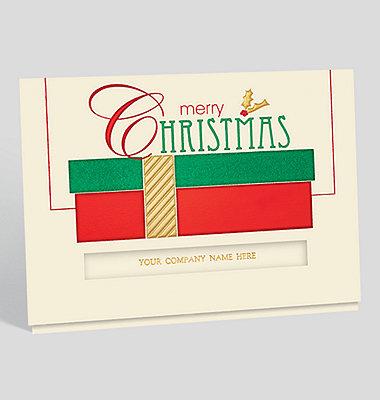 Snowflurry Greetings Die-Cut Holiday Card