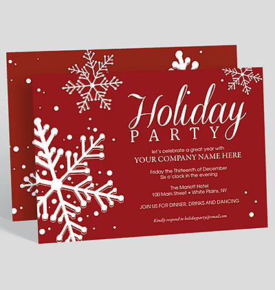 Annual gathering corporate party invitation 1023716 business paint the town red holiday party invitation stopboris Choice Image