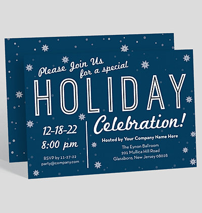 Holiday Party Tree Corporate Party Invitation 1023694 Business – Company Party Invitation
