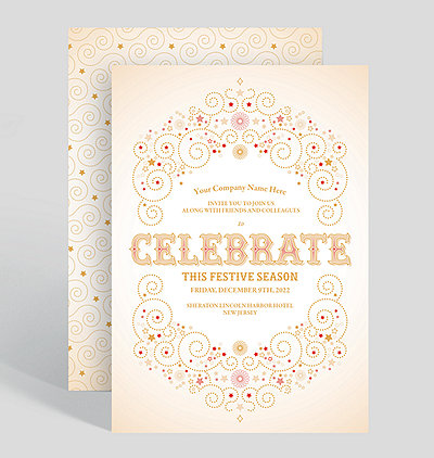 celebrate this festive season holiday party invitation - Corporate Holiday Party Invitations