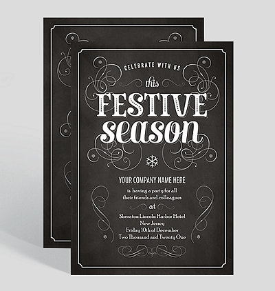 Corporate holiday party invitations festive season corporate holiday party invitation stopboris Images
