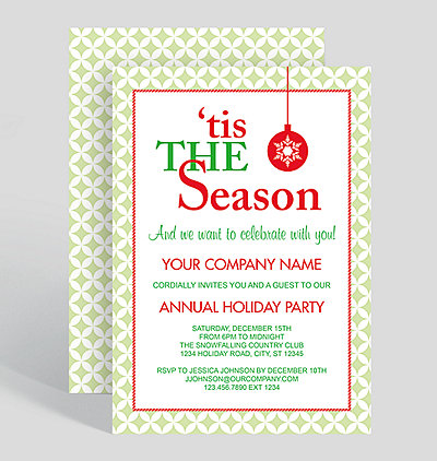 tis the season corporate party invitation