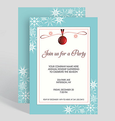join us for a party holiday party invitation