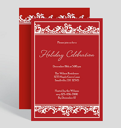 Corporate holiday party invitations holiday celebration corporate party invitation stopboris Gallery