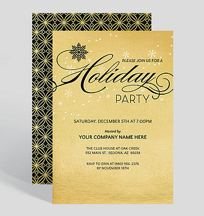 Corporate Holiday Party Invitations – Holiday Party Invites