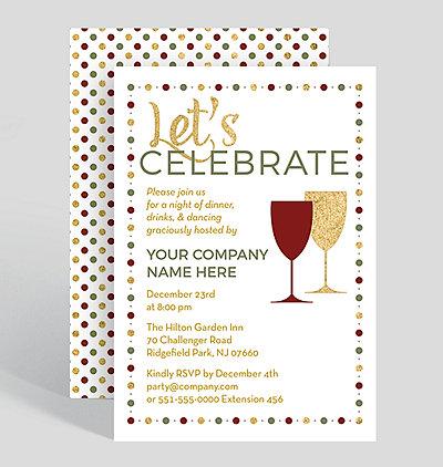 snowfall celebration corporate party invitation 1025679 business
