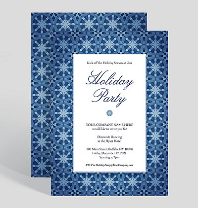 kaleidoscape corporate party invitation - Corporate Holiday Party Invitations